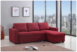 Modern linen fabric large sectional sofa with storage