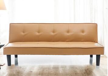 现代简易人造革沙发床