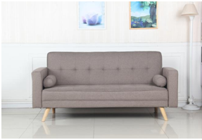 时尚设计亚麻布沙发床