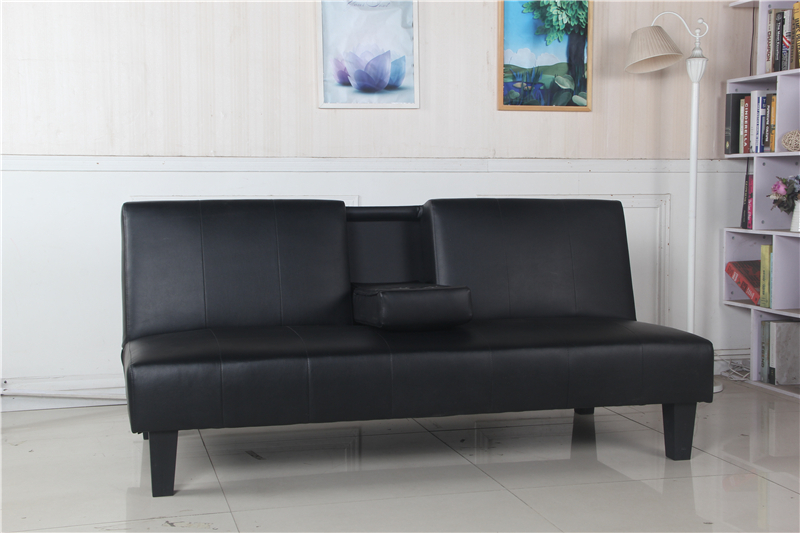 Leather sofa bed